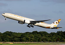 Un Boeing 777-300ER di Etihad Airways.