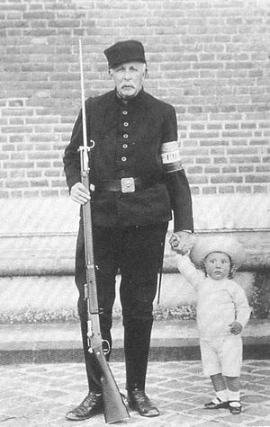 Prince Pedro Gastão of Orléans-Braganza - Pedro Gastão with his paternal grandfather, Gaston of Orléans during First World War.