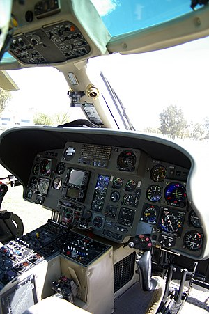 Eurocopter AS365 Dauphin - Eurocopter AS365 N2 cockpit