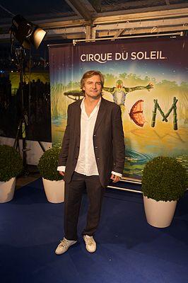 Victor Reinier bij de première van Cirque du Soleil in 2010
