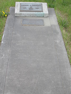 Eva McGown - Grave of Arthur and Eva McGown at Clay Street Cemetery
