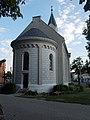 Evangélikus templom, félkör alaprajzú apszis fél kupola lefedéssel, 2017 Mosonmagyaróvár.jpg
