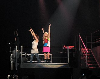 "Hannah Montana 2: Meet Miley Cyrus - Cyrus performing ""Pumpin' Up the Party"" on the Best of Both Worlds Tour."