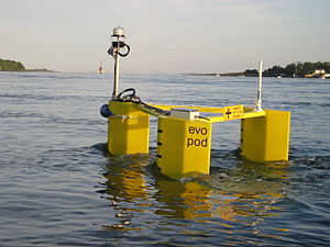 Tidal stream generator - Evopod - A semi-submerged floating approach tested in Strangford Lough.