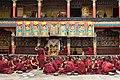 Examination of monks, Tashilhunpo Monastery, Shigatse, Tibet (8).jpg