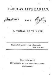 Tomás de Iriarte: Fábulas literarias
