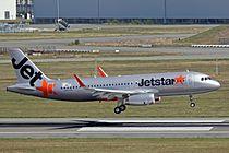 F-WWDQ(5738 B-KJD) A320-232S JetStar Hong Kong TLS 24SEP13.jpg