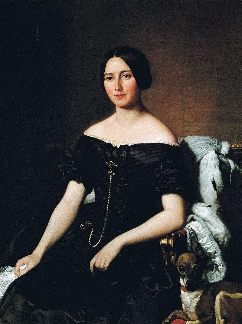 F. de Madrazo - 1847, María Josefa Corral Suelves, Marquesa de Narros (Colección particular, Madrid, 104 x 78 cm).jpg