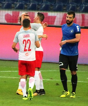Marius Constantin - Constantin (right) playing for Viitorul Constanța