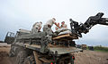 FEMA - 36165 - National Guard off loading sandbags from a truck in Missouri.jpg