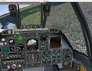 FlightGear 1.0.0 r150 for Mac OS X. Flight A-10.