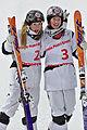 FIS Moguls World Cup 2015 Finals - Megève - 20150315 - Justine et Chloé Dufour-Lapointe.jpg