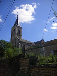 The church in Taconnay