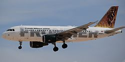 Airbus A319-100 der Frontier Airlines