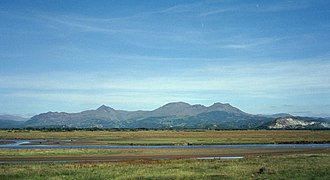 Traeth Mawr - The low-lying land that forms the polder of the Traeth Mawr