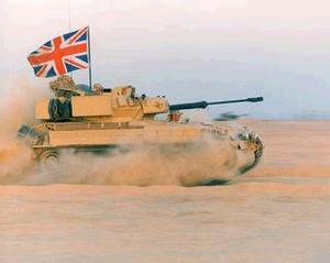 FV107 Scimitar - FV107 Scimitar in desert camouflage