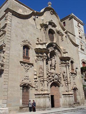 Cave of Saint Ignatius - Image: Façana Església Cova Sant Ignasi