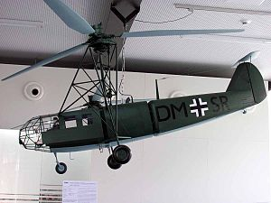 Focke-Achgelis Fa 223 - A model of a Fa 223 at the ''Hubschraubermuseum'' Bückeburg (Bückeburg Helicopter Museum)