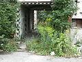Factory ruins, tunnel, vegetation, České Budějovice.JPG