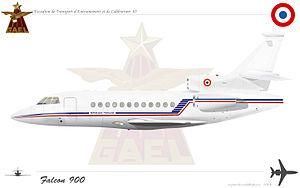 Escadron de transport, d'entrainement et de calibration - Image: Falcon 900