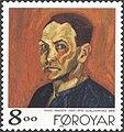 Faroe stamp 336 hans hansen - self portrait.jpg