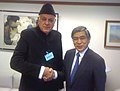 Farooq Abdullah who is on a four-day visit to Philippines to participate in the Asian Clean Energy Forum, called on the President of the Asian Development Bank (ADB), Mr. Haruhiko Kuroda, in Manila on June 21, 2010.jpg