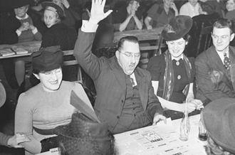 Bingo (U.S.) - A bingo winner in Montreal, Quebec in 1941