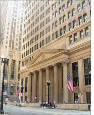 Federal Reserve Bank of Chicago - The Federal Reserve Bank of Chicago is located at the corner of LaSalle Street and Jackson Boulevard in the city's financial district.