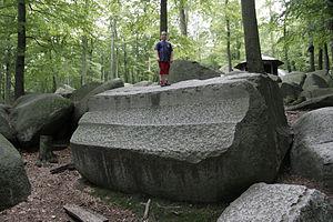 """Lautertal, Hesse - The """"Altar Stone"""" at Felsenmeer"""