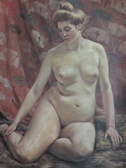 Female Nude by Kuroda Seiki