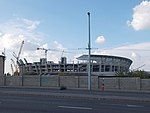 Ferenc Puskás Stadium under construction, 2018 Józsefváros.jpg