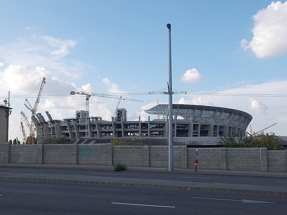 Ferenc Puskás Stadium under construction, 2018 Józsefváros