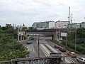 Ferencváros railway station exit area, Circle rail bridge over Gubacsi út, 2019 Budapest.jpg