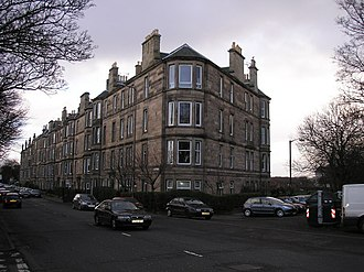 Ferry Road - Tenements on Ferry Road at Chancelot Terrace