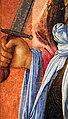Filippo lippi, santi da un trittico, michele arcangelo, 1458, 04 mano con spada.jpg