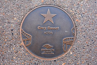 Gary Sweet - Sweet's plaque at the Australian Film Walk of Fame, The Ritz Cinema, Randwick, Sydney