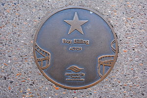 Roy Billing - Billing's plaque at the Australian Film Walk of Fame, The Ritz Cinema, Randwick, Sydney