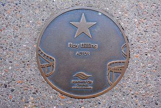 Roy Billing - Billing's plaque at the Australian Film Walk of Fame, The Ritz Cinema, Randwick, Sydney