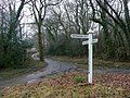 Fingerpost at Spreyton Wood Cross - geograph.org.uk - 1723124.jpg
