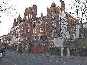Southwark Bridge Road - Fire station on Southwark Bridge Road.
