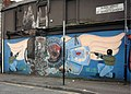 Firebombed Loyalist mural, Sandy Row - panoramio.jpg