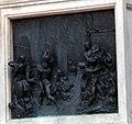 Firenze - Florence - Piazza della Signoria - View South on Bronze Plaque below Giambologna's Rape of the Sabine Women 1583.jpg