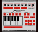 A step rhythm sequencer on the drum machine