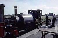 Fletcher Jennings 0-4-2T 42 (1864) No 1 'Talyllyn' Tywyn Wharf, TR, N Wales 17.8.1992 (10196594814).jpg