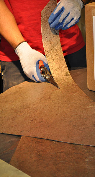 Flexible Stone Veneer : File flexible stone veneer being cut g wikimedia commons