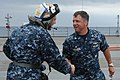 Flickr - Official U.S. Navy Imagery - The deputy commander of the U.S. 6th Fleet is greeted by commanding officer of the U.S. 6th Fleet flagship, USS Mount Whitney..jpg