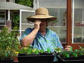 Flickr - brewbooks - Mary Ellen looking for new plants - Sandy and Ted's Garden.jpg