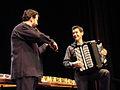 Flickr - dalbera - Manuel Solans (violon) et Bruno Maurice (accordéon) du trio Mieko Miyazaki au musée Guimet.jpg
