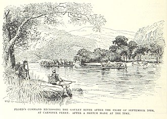 Mason Mathews - Floyd's retreat after Carnifex Ferry. The Confederate loss lead to a public feud between he and fellow general Henry A. Wise, which Mason Mathews arbitrated.