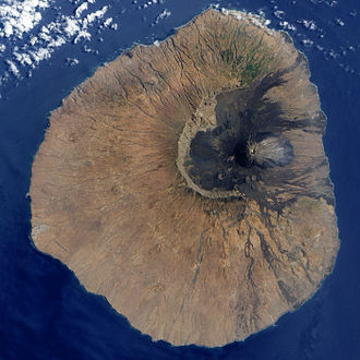 Geography of Cape Verde - Satellite image of Fogo.